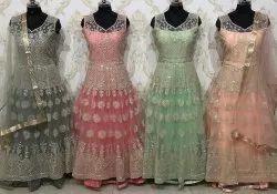 gyan sons Ethnic Ladies Gown Suit, Size: Large