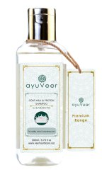 Aqua Ayuveer Goat Milk with Protein SLS & Paraben Free Shampoo, Packaging Type: Bottle, 200ml