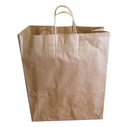 Brown Plain Paper Carry Bag