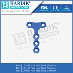 T Plate Head 2 Hole (Titanium)
