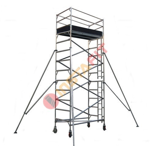 Silver Aluminum Ladder Scaffolding System