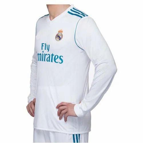 0b4cf95e845 White Full Sleeves Navex Real Madrid 2018-19 Full Sleeve
