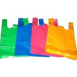 Yellow And Blue Plain Polythene Bag For Grocery