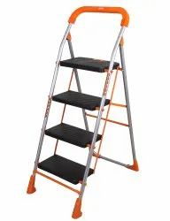 Orange Series Pollux Heavy Duty Metal 4 Step Folding Ladder