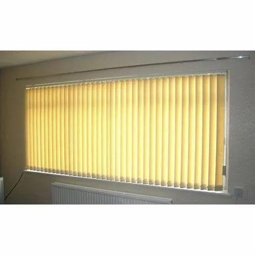 Yellow Slat PVC Vertical Blinds