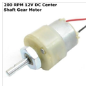 200 RPM 12v DC Center Shaft Gear Motor