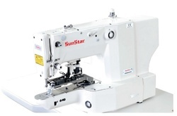 Electronically Controlled, Bartack Sewing Machine with Vent