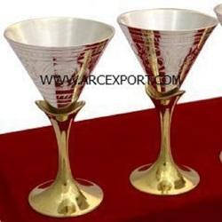 ARC EXPORT GOLD & SILVER WINE GOBLET