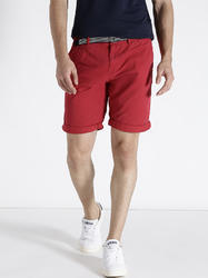 Stylish Red Cotton Shorts For Men