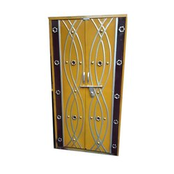 Hinged Designer Iron Double Door