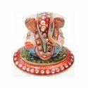 Marble Oval Ganesha