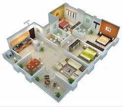 3BHK Residential Interior Designing Service