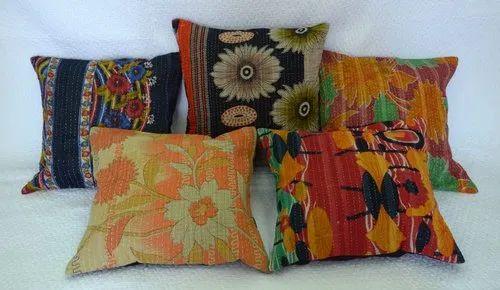 Fl Vintage Cotton Kantha Cushion