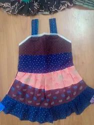 Girls Woven Printed Frock