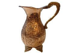 Copper Jug Flower Embossed Finish