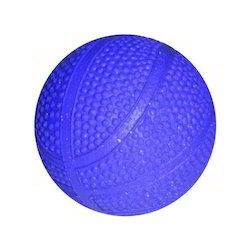Blue Rubber Ball, Size: 55 And 63mm