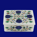 Marble Box With Inlay Floral Design