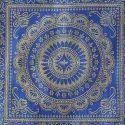 Ink Blue Brocade Mandala Pillow Case Cushion Covers