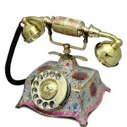 Brass  Minakari Landline Phone