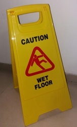 Yellow Work in Progress Floor Caution Board