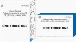 L Arginine Folic Acid Pyridoxine Hydrochloride Co Enzyme Q10 Vit B 12 piperine & Lycopene Tablets