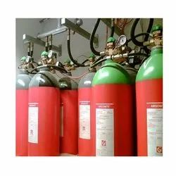Mild Steel A B C Dry Powder Type IG55 Fire Suppression System, For Industrial