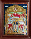 Ranganathar Tanjore Painting With Sridevi And Poo Devi