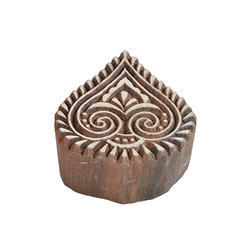 Pan Leaf Shape Wooden Henna Printing Blocks