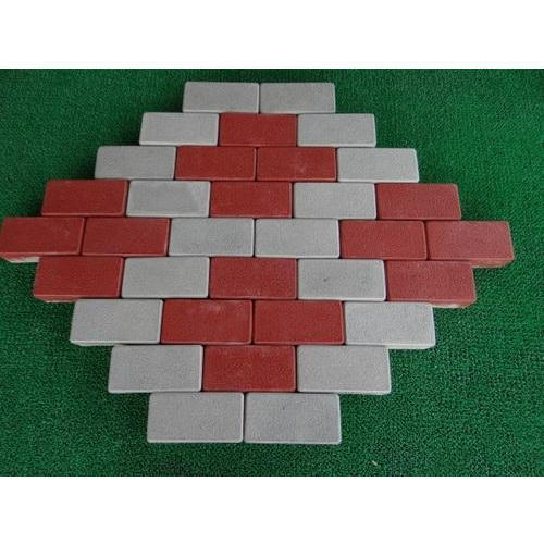 Red,Grey Outdoor Cement Brick Interlocking Pavers, Thickness: 60 mm