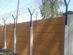 Precast Wall with Barbed Wire