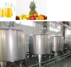 Stainless Steel 1000 l per hour Fruit Juice Processing Plant
