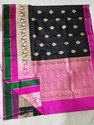 Silk Banarsi Saree, Length: 6 meter