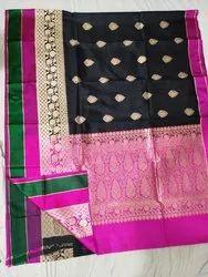 Silk Banarsi Saree, Length: 6 meter