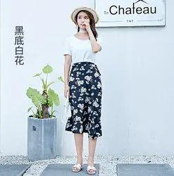 Western Wear Printed Floral One-piece Dress Skirt