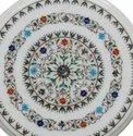 Stone Inlay Round Shape Table Top