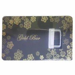 Gold Bar Coin Packing Card