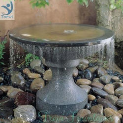 Indoor, Outddor Uniform Stone Water Fountain, For Hotel, Size: Customizable