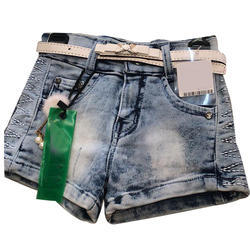 Denim Girls Fancy Shorts, Size: S and M