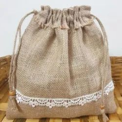 Brown Plain Jute Bag For Shopping