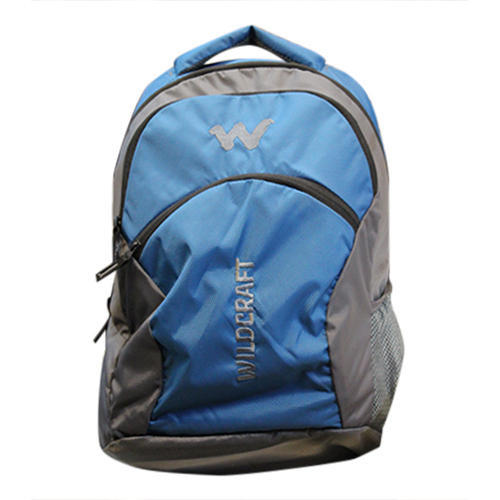 Poly Blue, Gray Wildcraft Laptop Backpack
