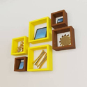 Furniture Cafe Wooden Six Cubes Wall Shelves, For Home
