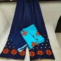 Designer Rayon Embroidered Palazzo Suit
