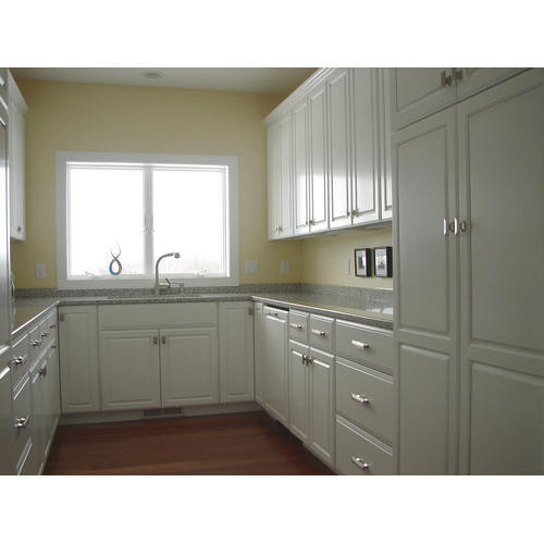 White U Shaped Kitchen Cabinet, Rs 850 /square Feet, Ever