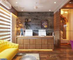Wooden White Modern Office Interiors