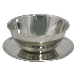 DE STELLAR Silver Stainless Steel Soup Bowl, For Home, Packaging Type: Box