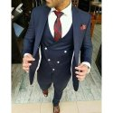 Party Wear 3-piece Suit Blue Designer Coat