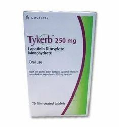 Tykerb 250 Mg Tablet, Packaging Size: 70 Film Coated Tablets, Packaging Type: Box