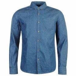 Slim Mens Full Sleeve Denim Shirt