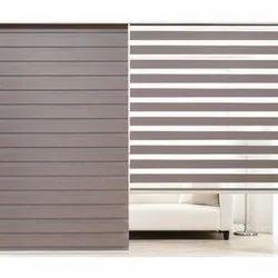 Synthetic Zebra Window Blind, Size: Max 10 Feet