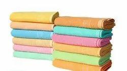 Plain Stripped Jacquard Bath Towels, Rectangular, 250-350 GSM
